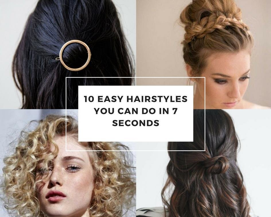 The Best 10 Easy Hairstyles Can Do In 7 Seconds Pictures Original 1024 x 768