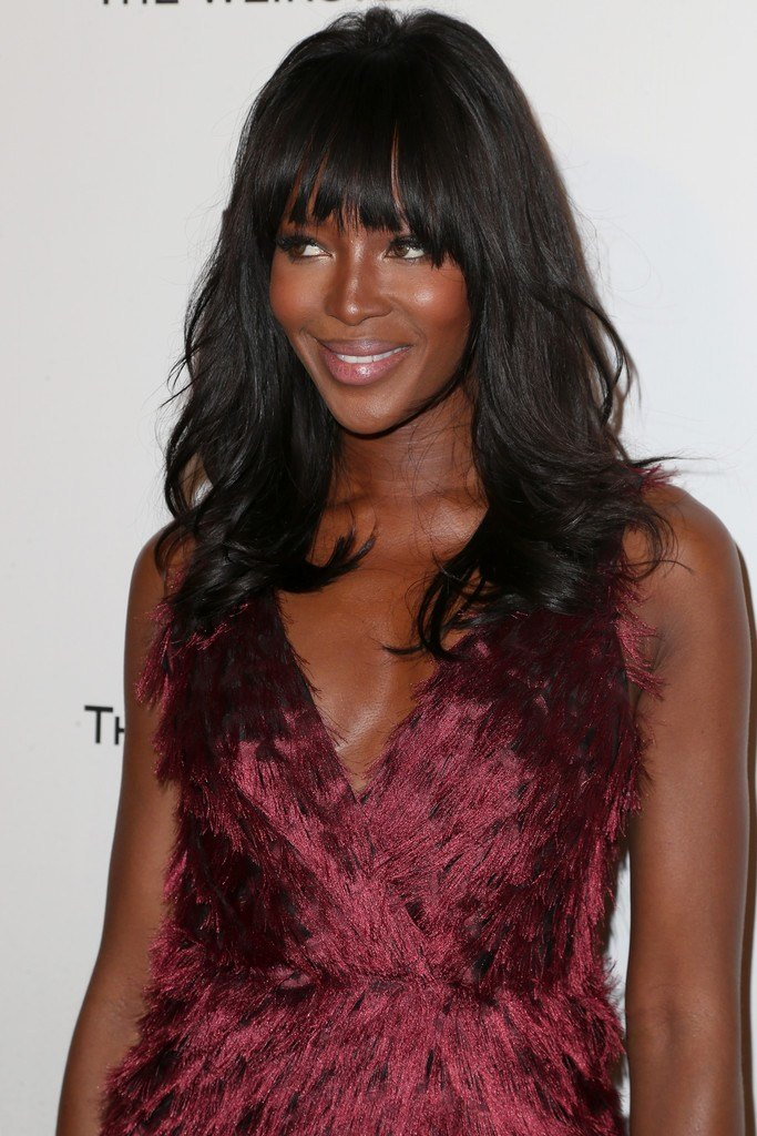 The Best Naomi Campbell Long Wavy Cut With Bangs Naomi Campbell Pictures