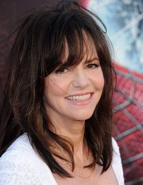 The Best More Pics Of Sally Field Medium Straight Cut With Bangs 2 Pictures