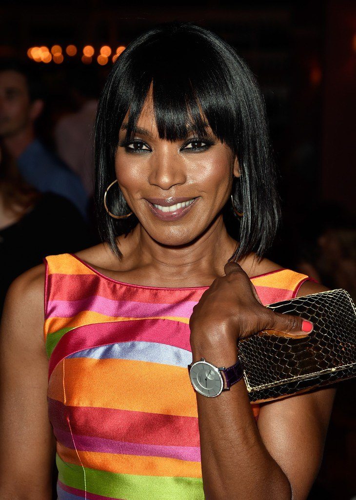 The Best Angela Bassett Medium Straight Cut With Bangs Medium Pictures