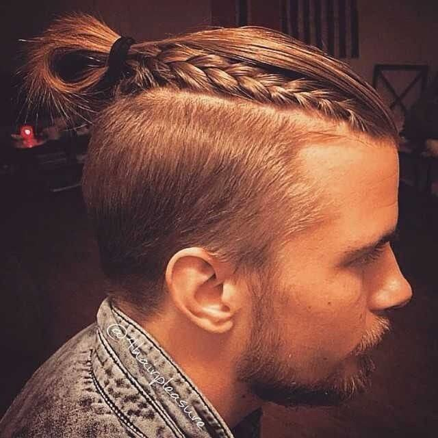 The Best The Man Bun Braids A Surprising New Men S Hair Trend Pictures