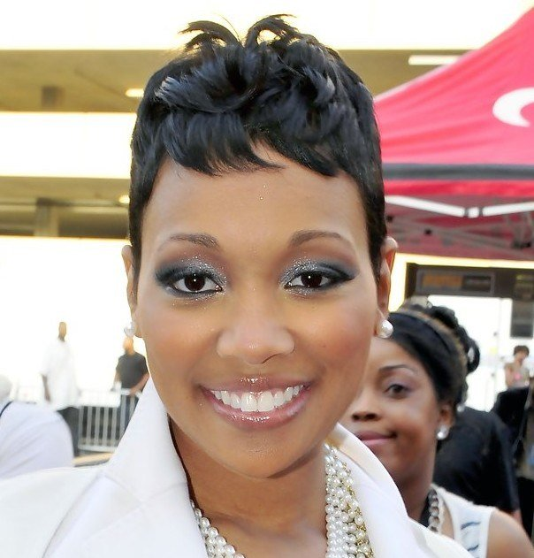 The Best African American Short Black Wavy Hairstyle 2013 Pictures