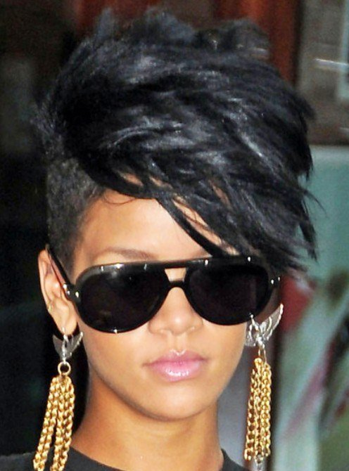 The Best Rihanna Black Fauxhawk Hairstyle Hairstyles Weekly Pictures