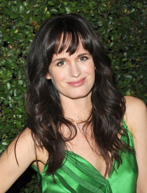 The Best Elizabeth Reaser Long Layered Black Hairstyles With Bangs Pictures