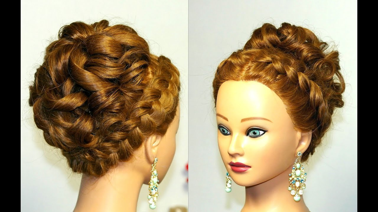 The Best Wedding Prom Hairstyle For Long Hair With French Braid Pictures
