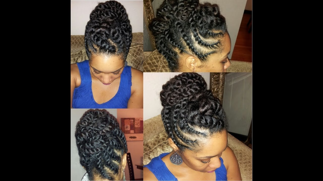 The Best Natural Hair Flat Twist Updo Protective Hairstyle Youtube Pictures
