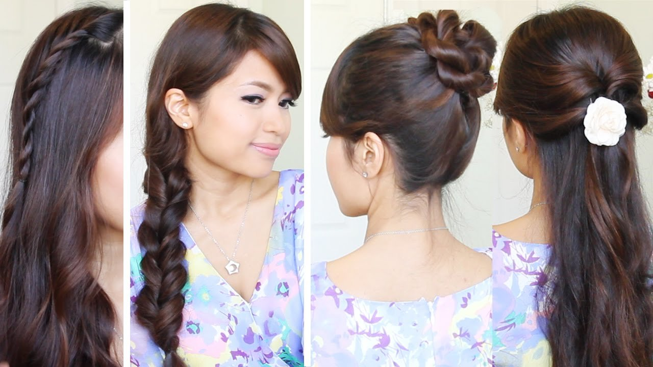 The Best Quick Easy Back To School Hairstyles Hair Tutorial Youtube Pictures