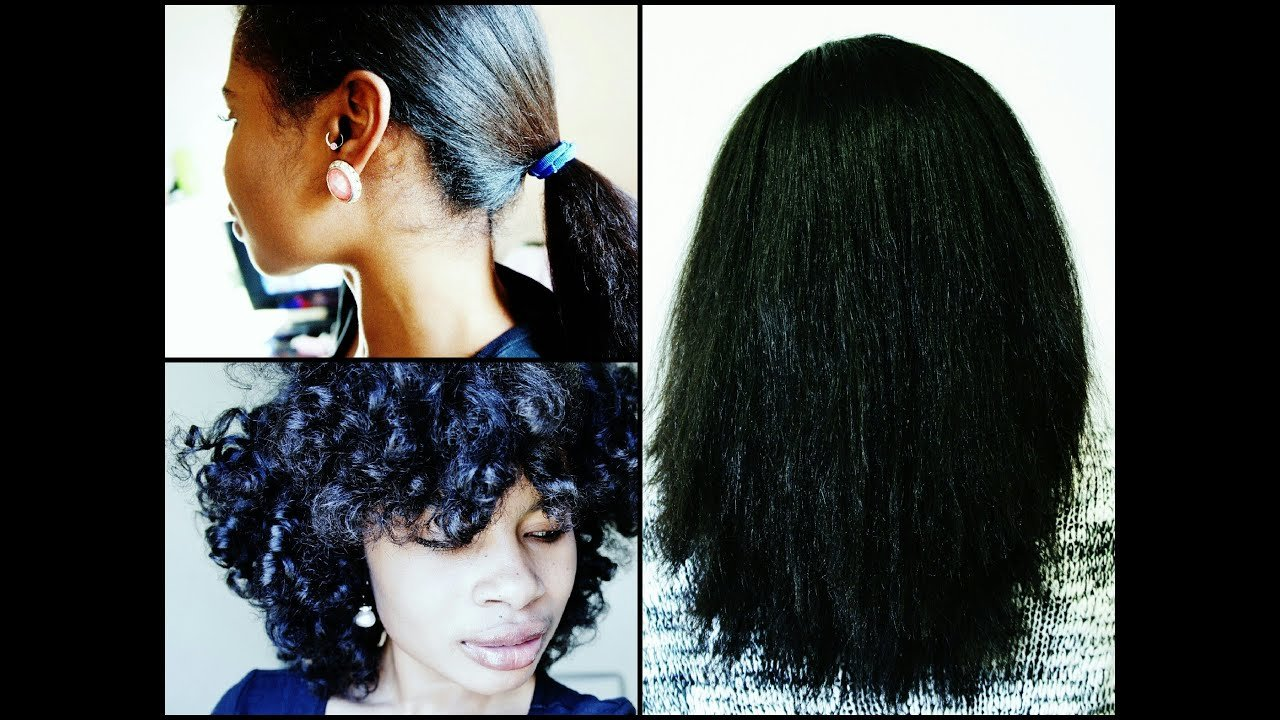 The Best Natural Hair Curly To Straight No Heat Tools Youtube Pictures