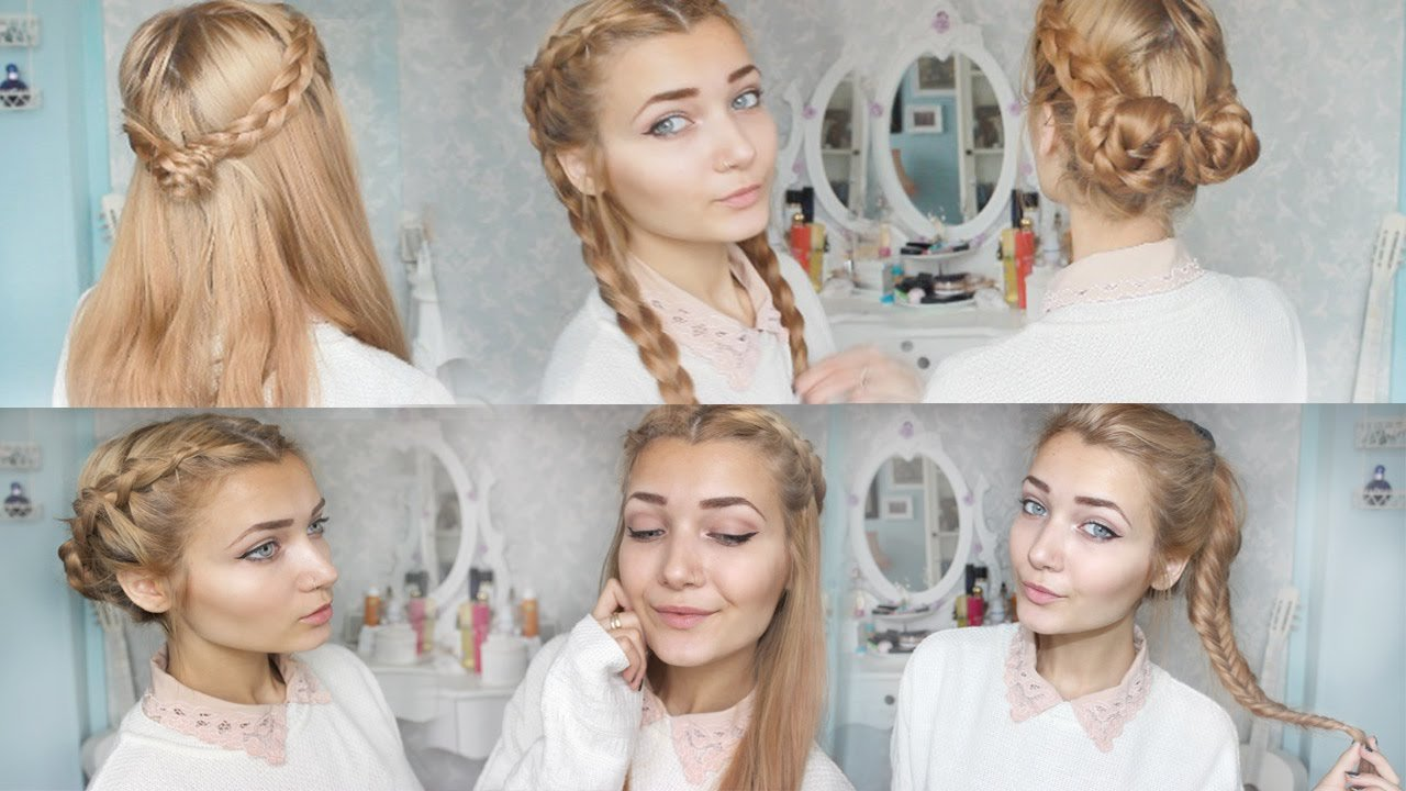 The Best 4 Cute Braid Back To School Hairstyles Youtube Pictures
