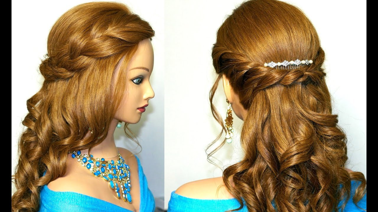 The Best Curly Romantic Prom Hairstyle For Medium Long Hair Youtube Pictures