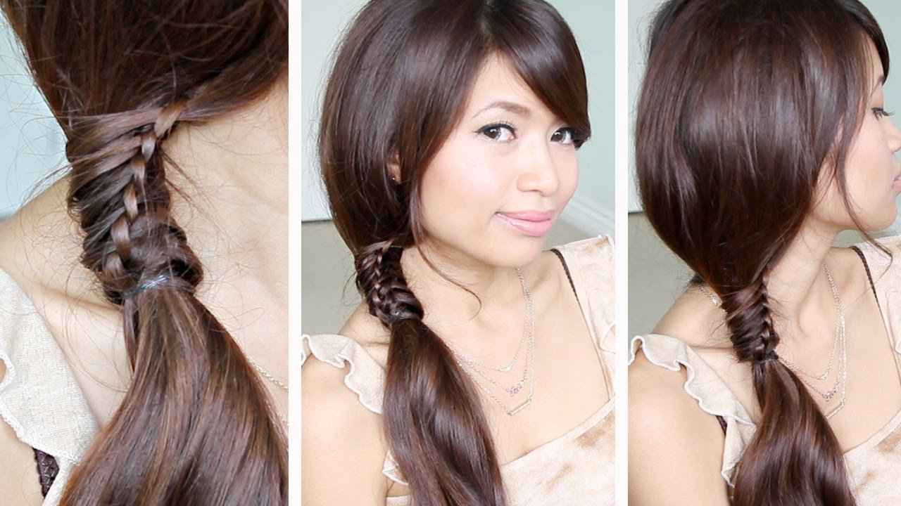 The Best Chinese Staircase Braid Ponytail Hairstyle For Medium Long Pictures