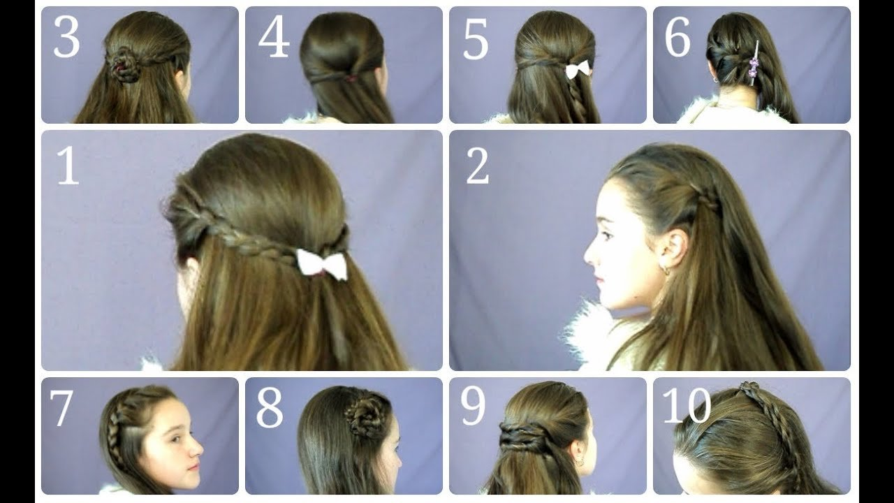The Best 10 Easy Simple Half Up Hairstyles For Everyday Youtube Pictures