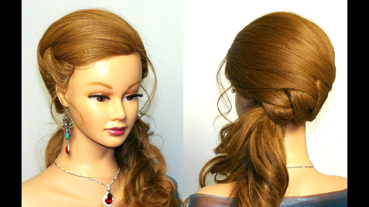 The Best Wedding Prom Hairstyle For Long Hair Tutorial Youtube Pictures