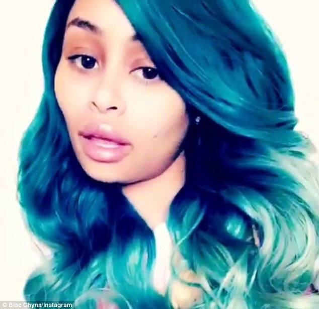 The Best Blac Chyna Shows Off Her New Aqua Blue Hair Colour On Pictures