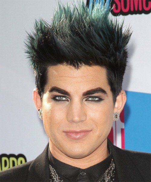 The Best Adam Lambert Short Straight Alternative Emo Hairstyle Black Hair Color Pictures