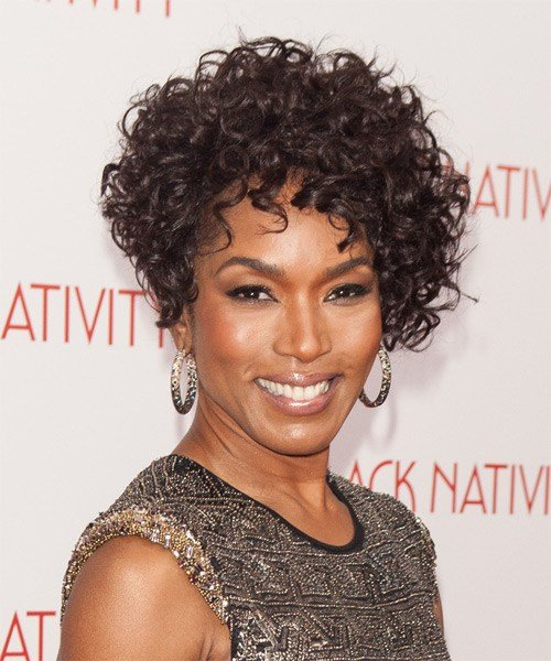 The Best Angela Bassett Short Curly Formal Hairstyle Dark Mocha Pictures