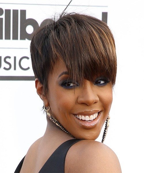 The Best Kelly Rowland Short Straight Formal Hairstyle With Layered Pictures