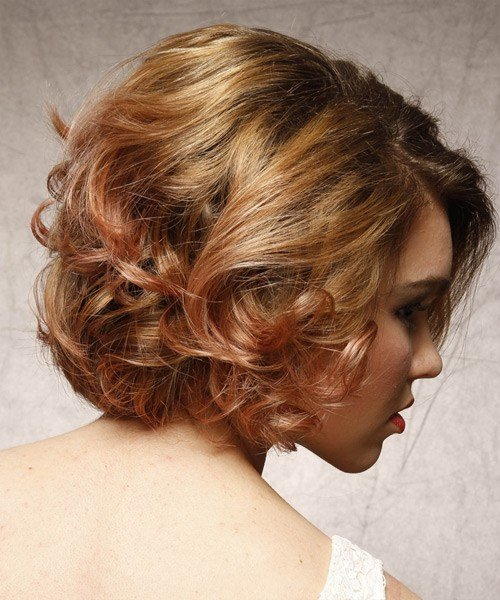The Best Short Curly Formal Hairstyle Strawberry Brunette Hair Color Pictures