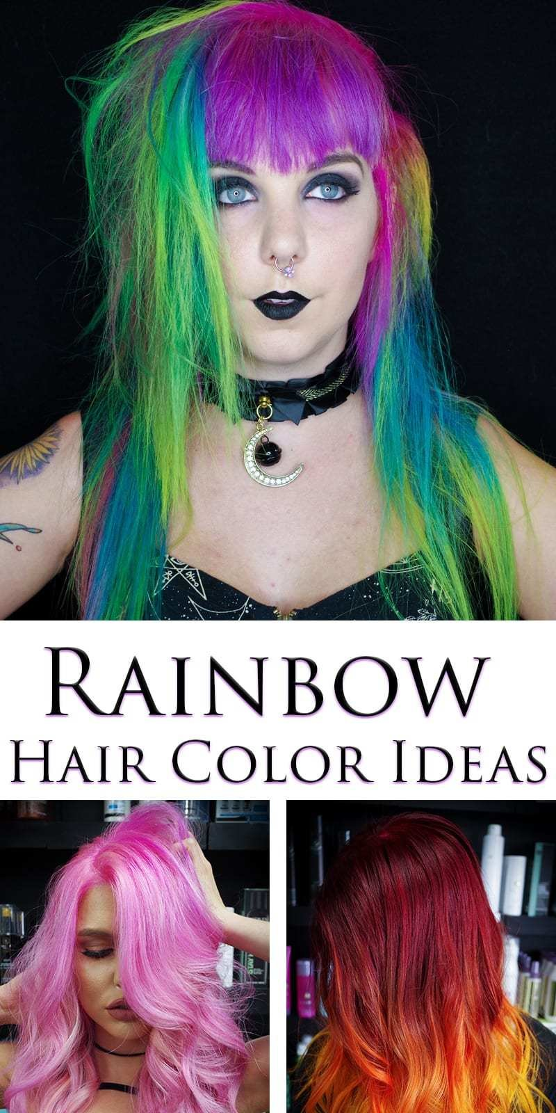 The Best Rainbow Hair Color Ideas With Christian From Istylexg Pictures