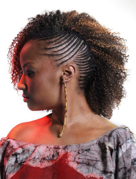 The Best One Side Cornrows Braided Hairstyle Thirstyroots Com Pictures