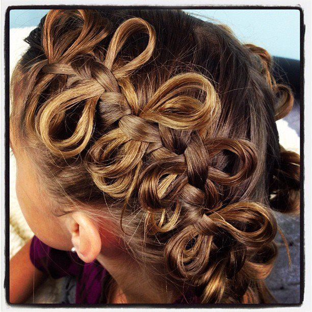 The Best The Bow Braid Cute Braided Hairstyles Cute Girls Pictures