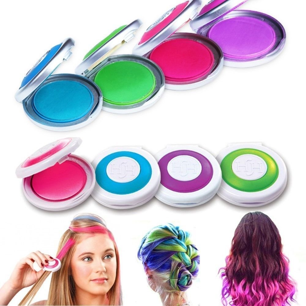 The Best 4 Colors Non Toxic Temporary Easy Diy Hair Chalks Dye Pictures