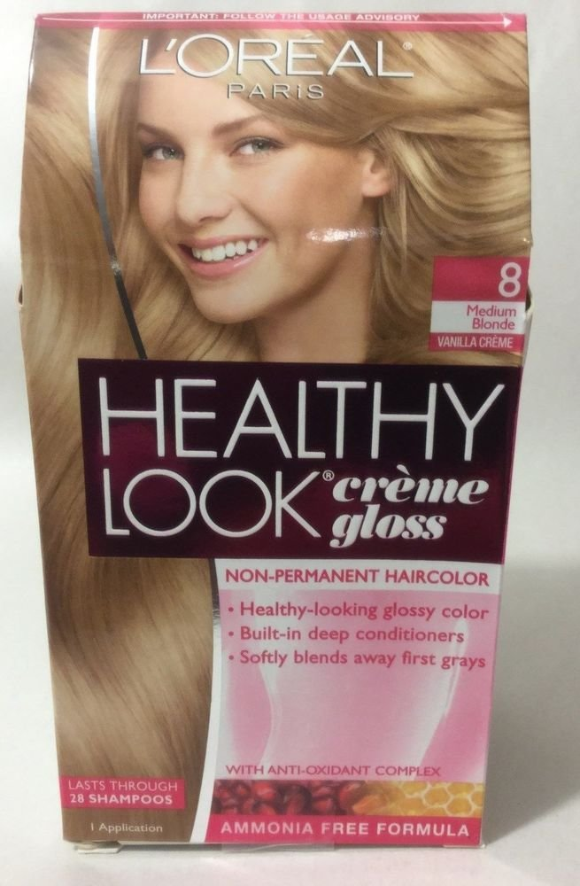 The Best L Oreal Healthy Look Creme Gloss Hair Color Medium Blonde Pictures