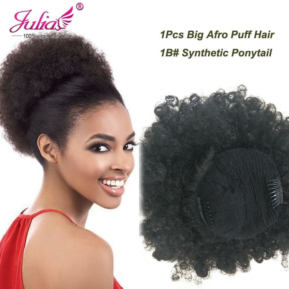 The Best Natural Black Afro Puff Curly Ponytail Hairpiece Pictures