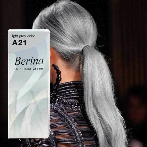 The Best Light Gray Color Berina Hair Color Cream No A21 Permanent Pictures