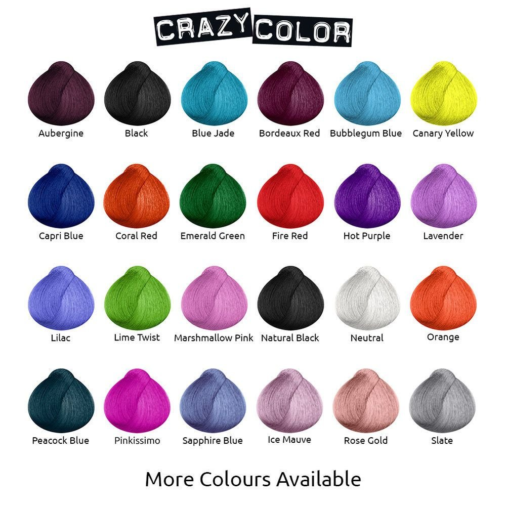 The Best Crazy Color Semi Permanent Hair Dye Cream By Renbow 100Ml Bottle All Colours Ebay Pictures