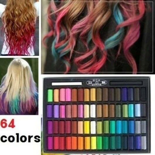 The Best 64 Color Temporary Color Dye Hair Chalk Pastel Diy Salon Pictures
