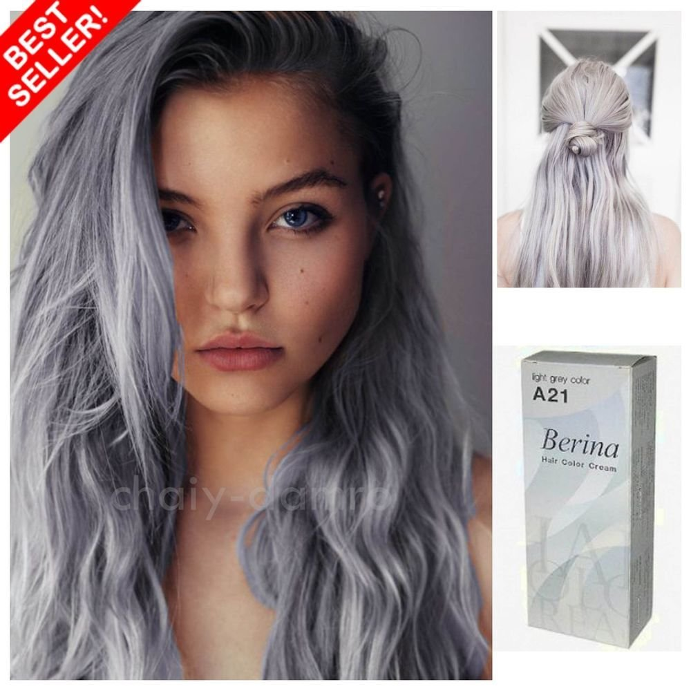 The Best Berina No A21 Light Gray Ash Hair Cream Permanent Color Pictures
