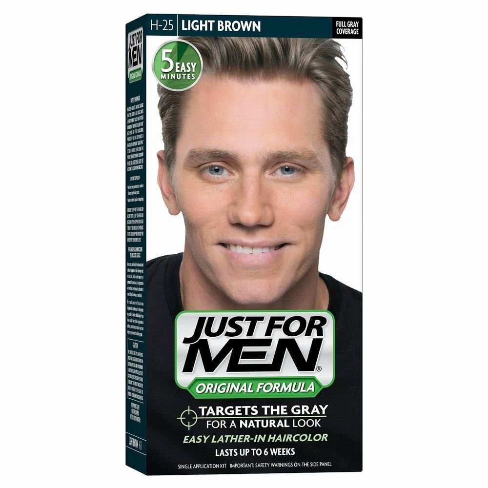 The Best Pack Of 3 Just For Men Shampoo In Hair Color H 25 Light Brown Easy Application Ebay Pictures