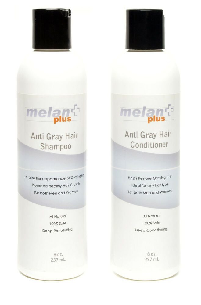 The Best Anti Graying Shampoo Conditioner Melanplus Stop Gray Pictures