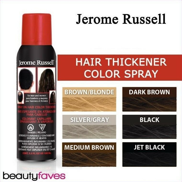 The Best Jerome Russell Spray On Hair Color Thickener 3 5Oz Ebay Pictures