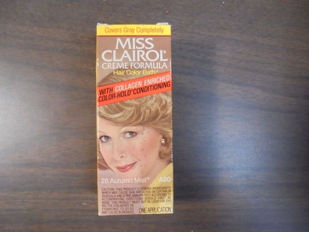 The Best Vintage Miss Clairol Hair Color Bath With Collagen Enriched 47 Red G*Ng*R Ebay Pictures