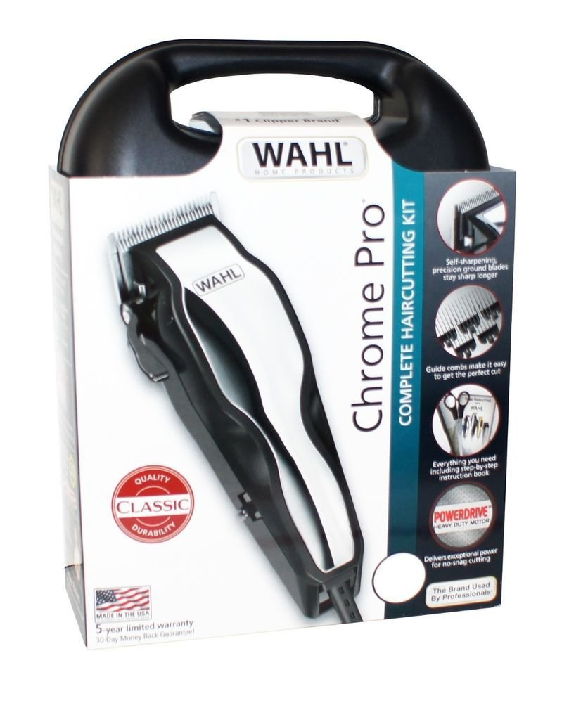 The Best Wahl Chrome Pro Haircutting Kit Hair Cut Clipper Hq Self Pictures