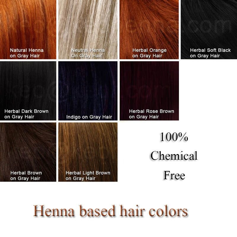 The Best 100 Pure Natural Herbal Hair Dye Henna Based Colors Pictures