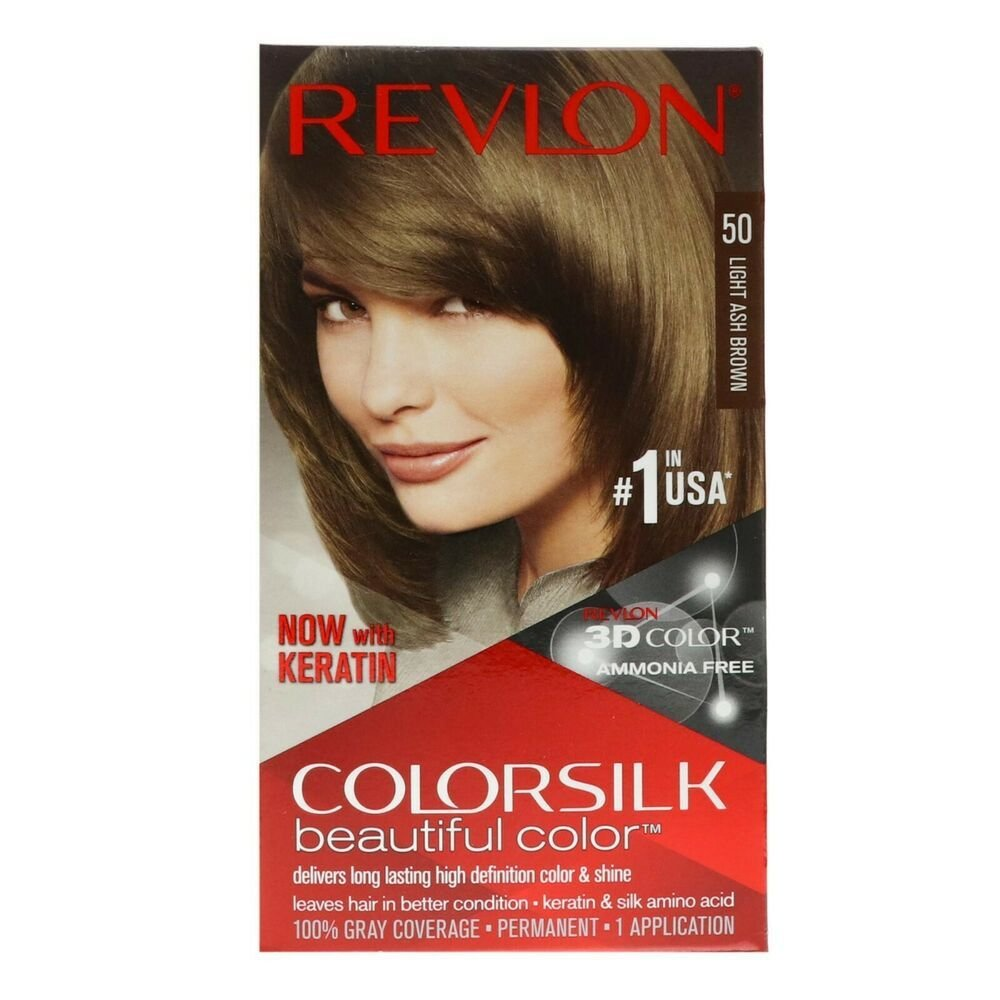 The Best Revlon Colorsilk Hair Color 50 Light Ash Brown 1 Each Pack Of 7 Ebay Pictures