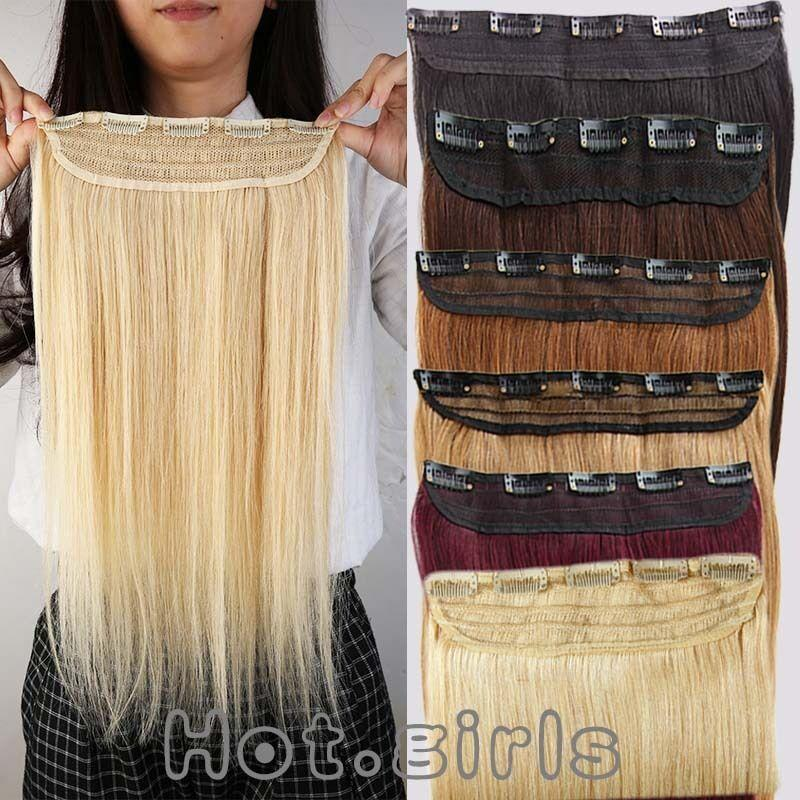 The Best 100G Real Clip In Remy Human Hair Extensions One Piece 3 Pictures