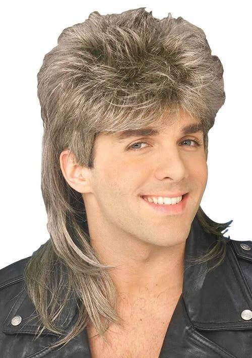 The Best 1980S Blonde Brown Mullet Wig 80S Redneck Hairstyle Pictures