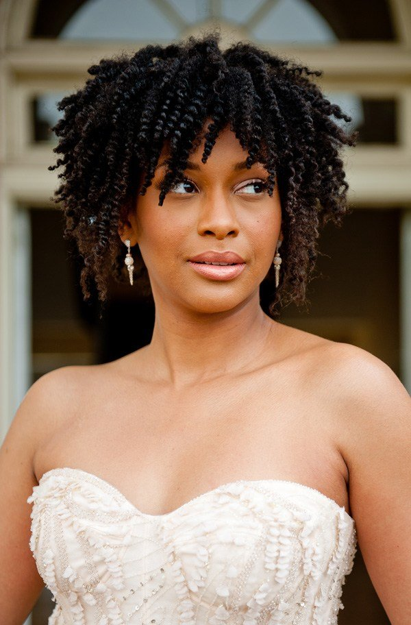 The Best Natural Hair Inspiration For Black Brides Munaluchi Bride Pictures
