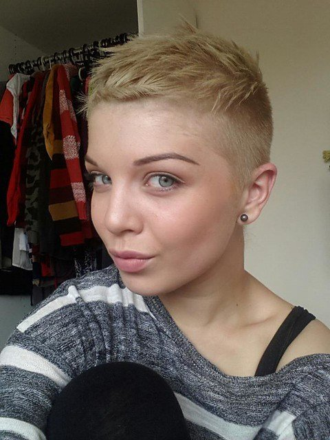 The Best Flickr Ultra Short Haircuts Girls Partially Shaved Short Pictures