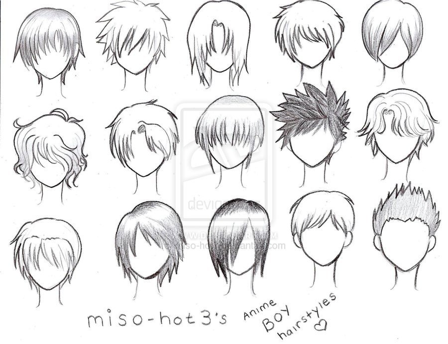 The Best Anime Boy Hairstyles By Pmtrix On Deviantart Pictures