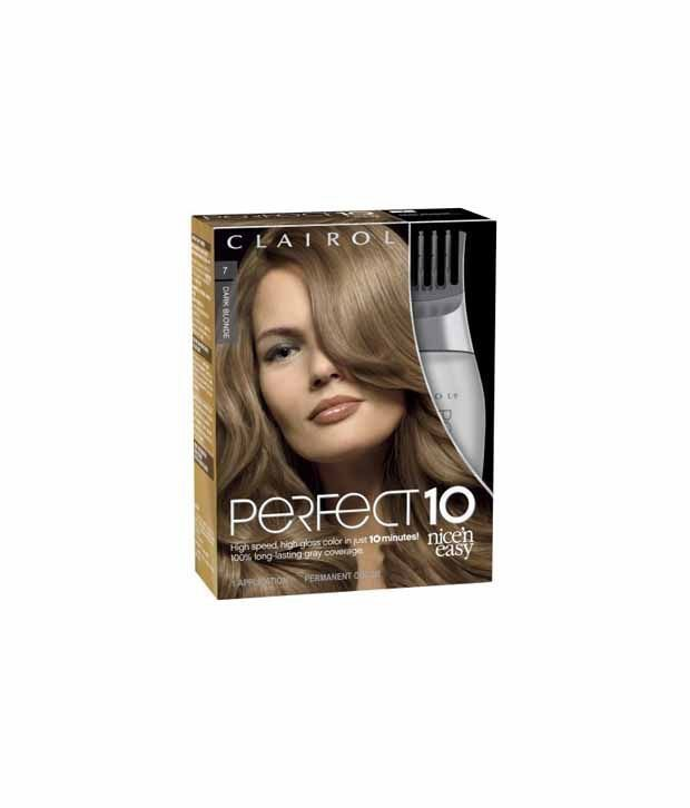 The Best Clairol Perfect 10 By Nice N Easy Hair Color 007 Dark Blonde 1 Kit Pack O Vku Buy Clairol Pictures