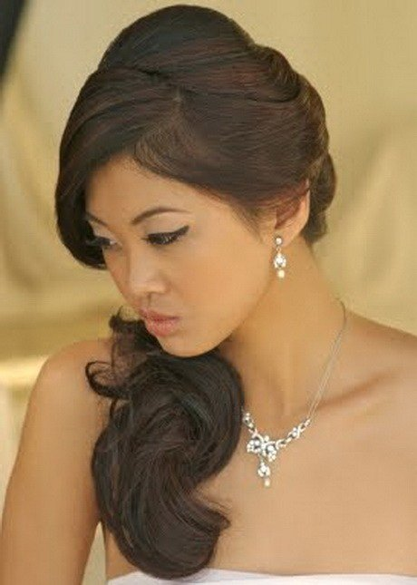 The Best Side Swept Bridal Hairstyles Pictures