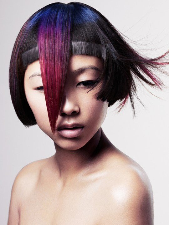 The Best Pictures New Short Punk Hairstyles For Women Colorful Short Punk Bob Haircut With Bangs Pictures