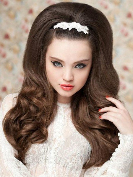 The Best Pictures Wedding Hairstyles For Long Hair 60S Style Pictures