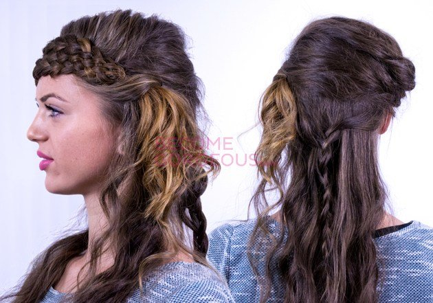 The Best 7 Strand Braid Tutorial Katniss Everdeen Hairstyle Video Pictures