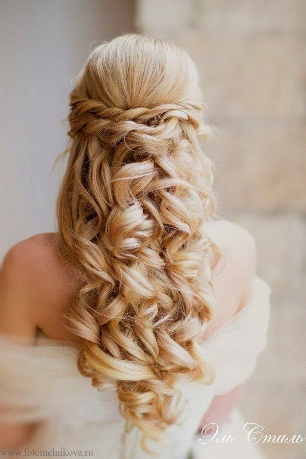 The Best Elegant Wedding Hairstyles Half Up Half Down Tulle Pictures